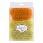 Сизалевое волокно  MIX  30 г ± 3 г Св. желтый/желтый/оранжевый