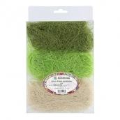 Сизалевое волокно  MIX  30 г ± 3 г  Белый/св. зеленый/т. Зеленый