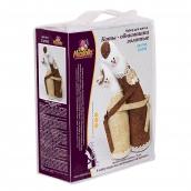 Набор для изготовления игрушек  Коты-обнимашки золотые