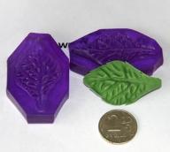 Молд двойной  с двухсторонней фактурой, арт.0793  5,5х3,5см
