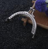Застежка-фермуар 6,5см серебро