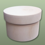 Шкатулка круглая диам.11,5см.х9,5см, липа
