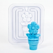 """Пластиковая форма 3D """"Цветок"""" (2 половинки)"""
