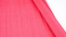 Бумага гофрированная Италия 50см х 2,5м 140г/м2 цв.т.розовая