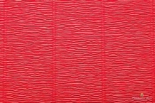 Бумага гофрированная Италия 50см х 2,5м 140г/м2 оранжево-красная