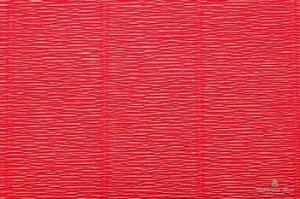 Бумага гофрированная Италия 50см х 2,5м 180г/м2  красная