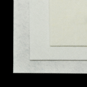 Фетр листовой жесткий  1мм 20х30см  белый 1лист