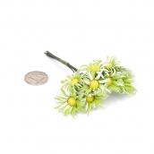 Цветы  10шт ромашки зеленые
