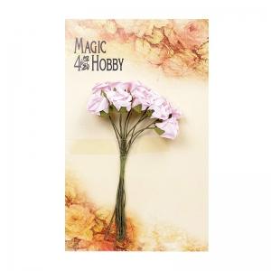 Цветы 10шт розочки розовые