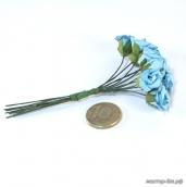 Цветы 12шт голубые