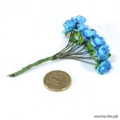 Цветы 12шт  бирюзовые