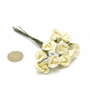 Цветы 10шт розочки шампань