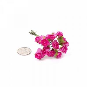 Цветы 12шт фуксия