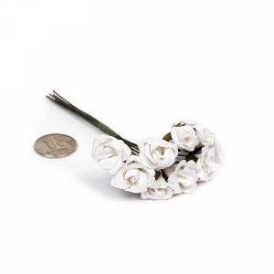 Цветы 10шт розочки белые