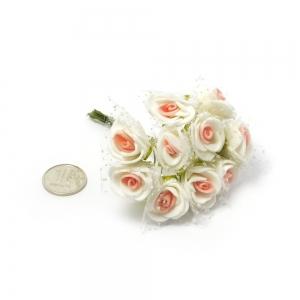 Цветы 10шт розы с фатином