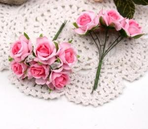 Цветы Розы из ткани d3см розовые