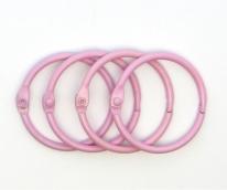 Кольца для альбомов  розовый 40 мм уп.4 шт