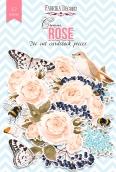 """Набор высечек, коллекция """"Cream Rose"""",57 шт"""
