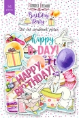 """Набор высечек, коллекция """"Birthday party """",54 шт"""
