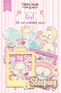 "Набор высечек, коллекция ""Sweet baby girl"", 49шт"