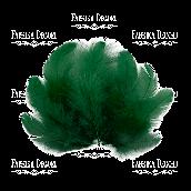 """Набор перьев мини """"Темно-зеленые"""""""