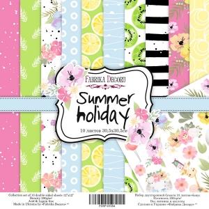 "Набор скрапбумаги ""Summer holiday"", 30,5x30,5см, Фабрика Декору"