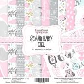 "Набор скрапбумаги ""Scandi Baby Girl"", 30,5x30,5см, Фабрика Декору"