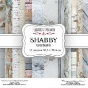 "Набор скрапбумаги ""Shabby texture"", 30,5 x30,5 см, Фабрика Декору"