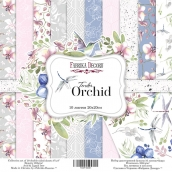 "Набор скрапбумаги ""Tender orchid"", 20x20см, Фабрика Декору"