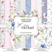 "Набор скрапбумаги ""Tender orchid"", 30,5x30,5см, Фабрика Декору"