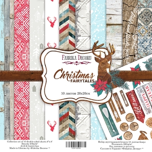 "Набор скрапбумаги ""Christmas fairytales"", 20x20см, Фабрика Декору"