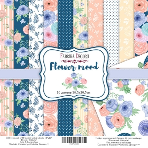 "Набор скрапбумаги ""Flower mood"", 30,5x30,5см, Фабрика Декору"