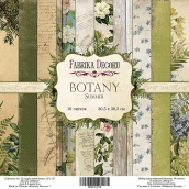"Набор скрапбумаги ""Botany summer"", 30,5 Х 30,5 см, Фабрика Декору"