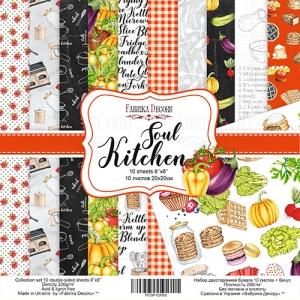 "Набор скрапбумаги ""Soul Kitchen"", 20x20см, Фабрика Декору"