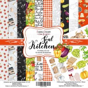 "Набор скрапбумаги ""Soul Kitchen"", 30,5x30,5см, Фабрика Декору"