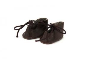 Ботиночки для кукол 40мм цв.коричневый уп.2 пары