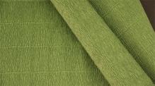 Бумага гофрированная Италия 50см х 2,5м 140г/м цв.991 травяной