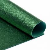Фоамиран глиттерный 2 мм цв.зеленый, 20х30 см