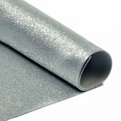 Фоамиран глиттерный 2 мм  цв.серебро, 20х30 см