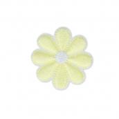 Термоаппликации №04  цветок бл-желтый 3.5х3.5 см