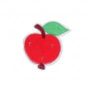 Термоаппликации №5 12 шт Россия 5-20 яблоко красное 5х5 см
