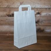 Белый пакет с плоской ручкой, 22*9*33 см