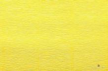 Бумага гофрированная Италия 50см х 2,5м 140г/м цв.975 лимонно-желтый
