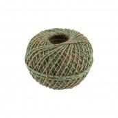 Нитки Шпагат джутовый с зеленой нитью ШДЗН 100% джут 100 м 109 я суровый/зеленый