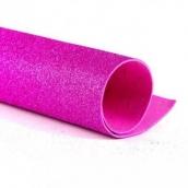 Фоамиран глиттерный 2 мм цв.розовый, 20*30 cм