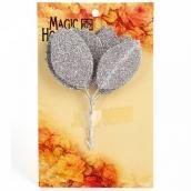 Листочки декоративные MAGIC HOBBY  уп.10шт цв. серебро