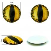 Глаза на клеевой основе  1,4см цв.желтый уп.8шт