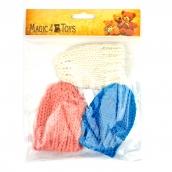 Шапка для игрушек  вязанная 8см обхват головы 11-16см 100% акрил цв.ассорти