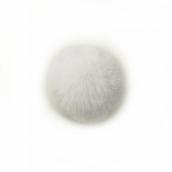 Помпон TBY натуральный Кролик 8см цв.белый