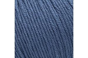 Пряжа Gazzal Organic Baby cotton 434 серо-синий